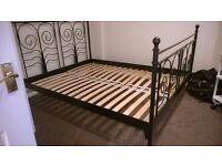Metal framed KING size bed