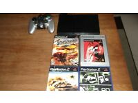 ps2 with games and controller cheap £10