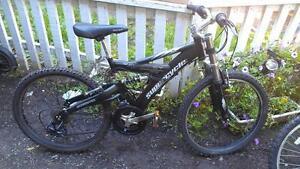 Vélo supercycle 24 pouces en aluminium double suspension
