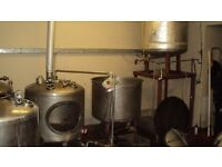 Micro Brewing Plant. 2.5 Barrel 90 Gallon with Kegs