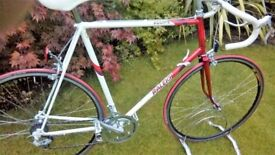 Retro 1980s raleigh road bike 25 inch frame
