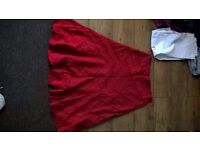 Red long skirt size 14