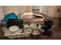 Kitchen Accessories Bundle Pans kettle chopping boards