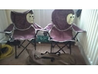 2 X CAMPING FOLD UP CHAIRS