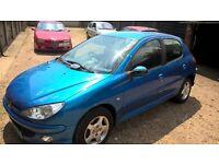 2006 Peugeot 206 1.4 (5 Door in Blue)