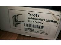 Basin mono mixer tap and pop up waste NEW