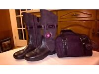 Clarks Girl's Boots and matching handbag