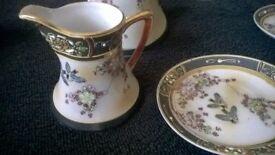 Coffee Set Tea/pot milk -Gold Leaf Lovely Antique set