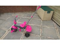 Pink Smart Trike with parent handle