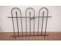 Panacea triple arch metal fence panel 91 cm High x 122 cm Wide - 3 pieces