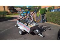 Erka 450Kg Trailer with Roof Bars and Cycle Carriers