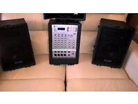 The PULSE PA-150 MP3 PA system