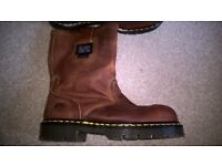 Dr Martens Leather Rigger Boots Icon 2295 Steel Toe UK Size 9