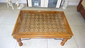 Coffee Table - Wooden, carved
