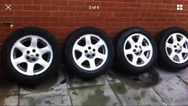 """18"""" genuine Land Rover discovery td5 comet alloy wheels with tyres x5 Range Rover"""