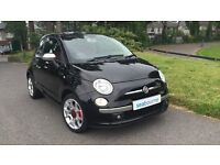 Fiat 500 1.4 Sport, full red leather, s/history
