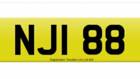 NJI88 cherished private number plate on retention Ready to go NJi 88