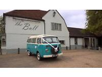 VW camper campervan hire. Wedding, civil partnerships, proms & special occasions