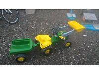 kids john deere tractor and trailer