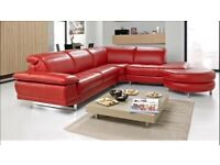 Corner Leather Sofa/Chair/Footstool