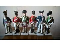 Six ceramic soliders