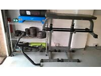 Home Gym Equipment - Bench / Stands / Bars / Cast Iron Weights