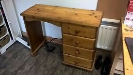 Lovely Pine Desk with drawers