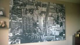 large ikea picture of Newyork