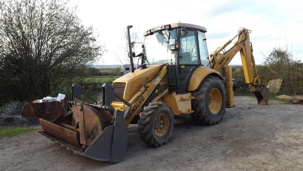 Ford New Holland Nh85 Backhoe Loader Digger Excavator Like