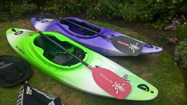 Fantastic condition Perception Sonic & Madness Kayaks with Lendal LF Mania  paddles & Palm spraydecks   in Lowestoft, Suffolk   Gumtree