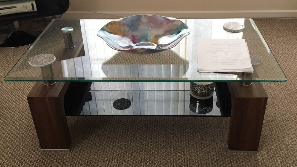 As New Glass Top Coffee Table From Dfs
