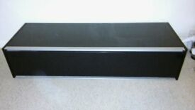 long flat black shiny drawer , ideal for large tv,