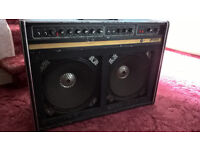 Carlsbro Stingray Lead 212 with new footswitch. 70-80's Guitar Amplifier