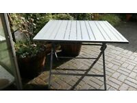 Metal Slatted Square Folding Table £45.00