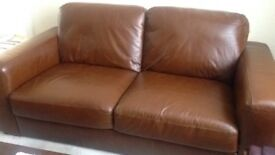Soft leather sofa (good quality from next)