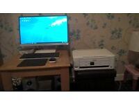 PC HP Pavilion Mini 300-235nam Desktop PC with 23 Monitor, Intel Core i3, 4GB RAM, 1TB gaming wifi