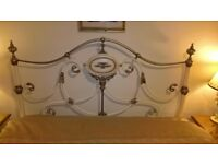 french style metal headboard good condition.