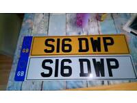 Private number plate s16 dwp
