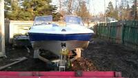 16 1/2' boat with a 2013 75hp 4 stroke Honda engine.