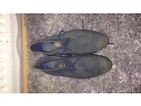 Blue suade shoes