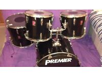 PREMIER BLACK APK DRUM SET - GREAT VALUE SET FOR NOT A LOT OF MONEY