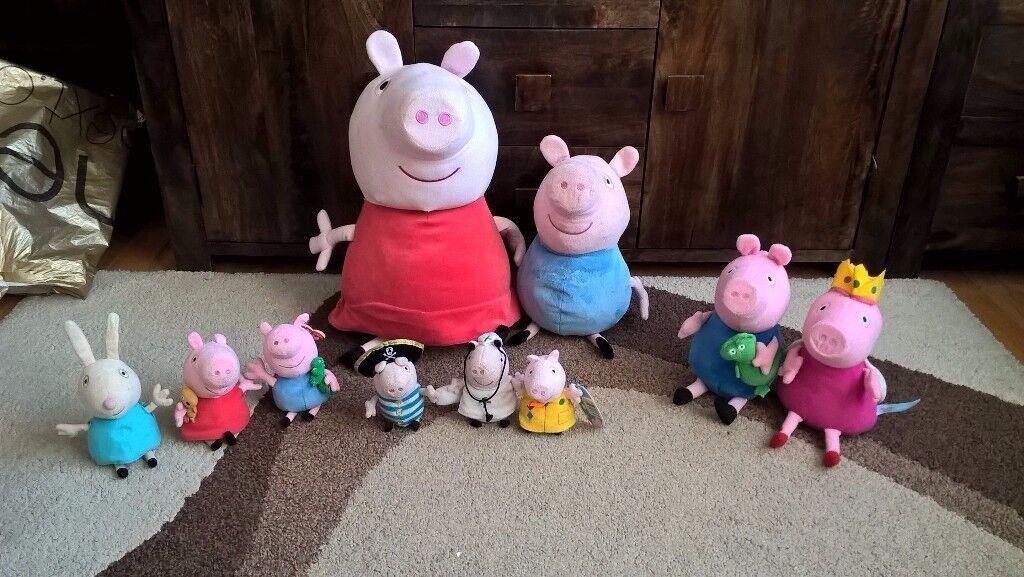 Peppa pig soft toys bundle