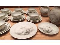 Vintage 25 Piece Japanese Eggshell china