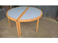 2 x Semi-Circular Tables