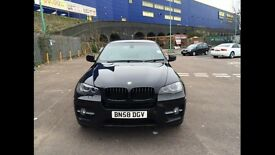 BMW X6 BLACK 3.0 35i X 5dr PETROL YEAR 2008 FULL SERVICE HISTORY ONLY 42000 MILES LONG MOT