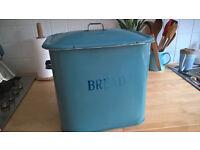 Original enamel vintage bread bin, letters a bit faded