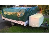 RANDGER 415 DL FOLDING TRAILER TENT,4 Berth with large sleeping areas. Complete with lots of extras.