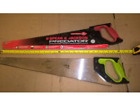 A PAIR OF SPEAR AND JACKSON PREDATOR SAWS UNIVERSAL HARDPOINT & 2ND CUT