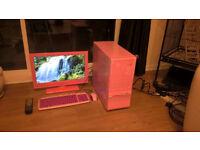 Pink quad core computer