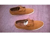 NEXT MENS TAN DERBY PUMP SHOES ITEM NUMBER 682-219 LIKE NEW SIZE 10